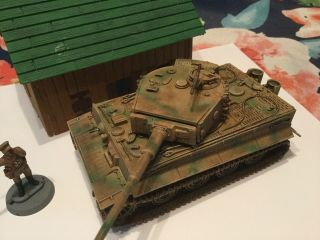 Bolt Action 1/56 Scale Germantiger I Panzer With Kursk Cammo Pattern