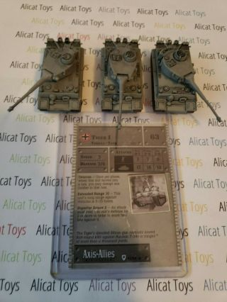 Axis Allies Miniatures German (1 Card) 3x Tiger I