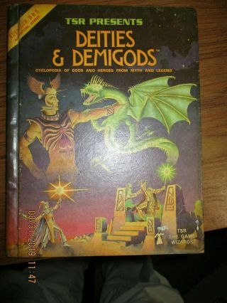 Tsr Ad&d Advanced Dungeons & Dragons Deities And Demigods - 128 Page - 1980