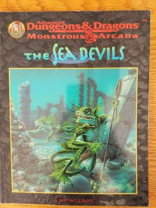 The Sea Devils Ad&d 2e Monstrous Arcana Accessory Sahuagin Sourcebook Tsr