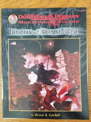 Masters Of Eternal Night Ad&d 2e Monstrous Arcana Mindflayers Game Module Tsr