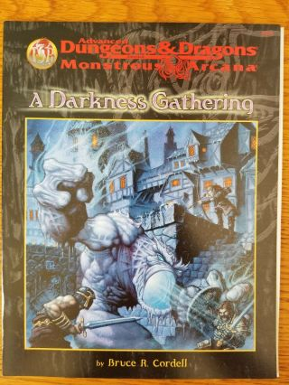 A Darkness Gathering Ad&d 2e Monstrous Arcana Mindflayers Game Module Tsr
