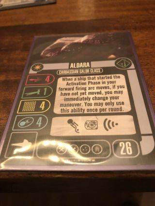 Star Trek Attack Wing Cardassian Dominion Blind Booster Aldara No Box