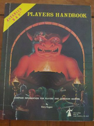 Advanced Dungeons And Dragons Players Handbook 6th Printing