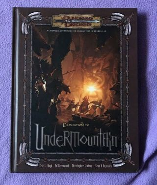 Expedition To Undermountain Dungeons & Dragons 3.  5