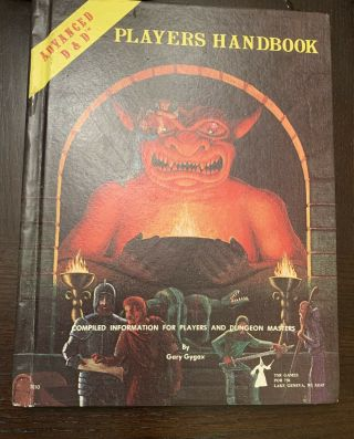 Advanced Dungeons & Dragons Players Handbook Ad&d 1st Edition.