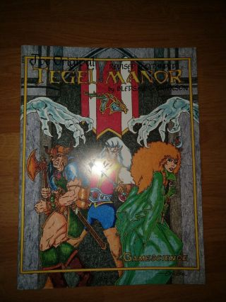 Tegel Manor - Gamescience Reprint Of Judges Guild Adventure For D&d -