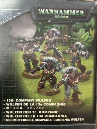Warhammer 40k Space Wolves 13th Company Wulfen - Metal Figs