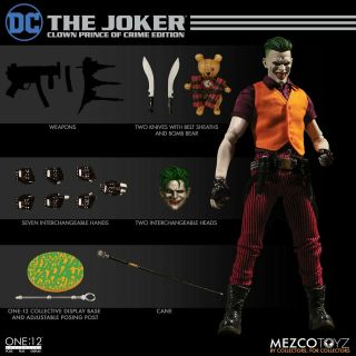 "Mezco One 12 Collective Dc The Joker Clown Prince Of Crime Edition 6 "" Figure Set"