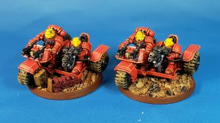 Warhammer 40k Space Marines Army Blood Angels Assualt Bikes