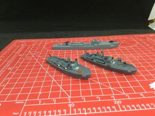 Warlord Games 2 Painted Cruel Seas U.  S.  Pt Boats And 1 German Boat 1/300 Scale