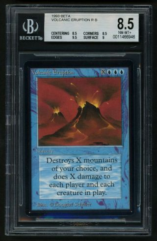 Bgs 8.  5 Beta Volcanic Eruption (quad, ) Mtg Beta - Kid Icarus -