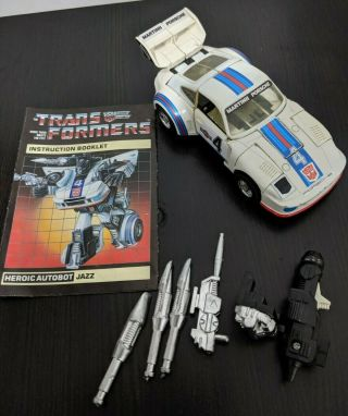 Vintage Transformers G1 Jazz 100 Complete (not A Reissue)