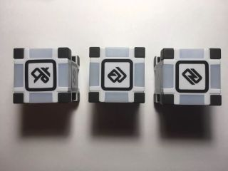Set Of 3 Cozmo Cosmo Robot Replacement Cubes /blocks 1 2 & 3