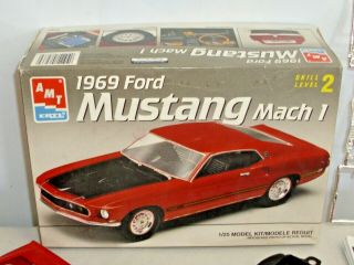 Amt 1969 Ford Mustang Fastback Car Model Kit Boxed Built Up 1:25 Scale