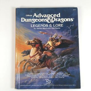 Ad&d Legends & Lore - Advanced Dungeon & Dragons Tsr 2013 - 1984 - Good