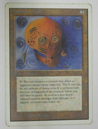 Illusory Mask - Unlimited Magic The Gathering Mtg Card