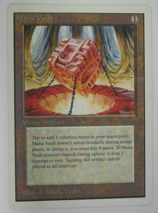 Mana Vault - Unlimited Magic The Gathering Mtg Card