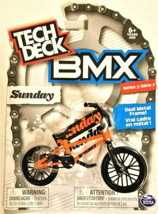 Tech Deck Bmx Finger Bikes Series 7 Sunday Flick Tricks Orange Metal Frame