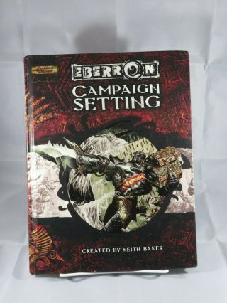 Eberron Campaign Setting D&d 3.  5 - By Keith Baker