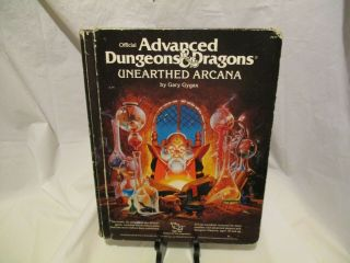 Ad&d Unearthed Arcana Advanced Dungeons & Dragons 1985 Tsr 2017