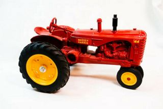 Vintage 1/16 Massey Harris 44 Red Toy Farm Tractor
