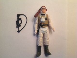 Star Wars Vintage Figure Luke Hoth Hk Coo With Authentic Accessory