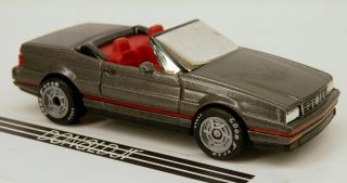 Matchbox 1986 - 1993 Cadillac Allante Roadster Grey Caddy 1:60 Scale