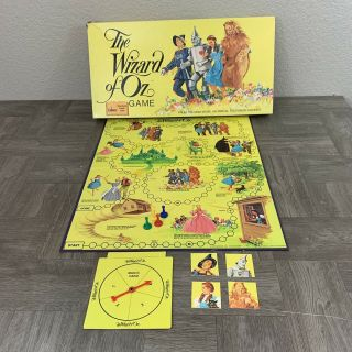 """1974 Cadaco """" The Wizard Of Oz """" Board Game Vintage Dorothy Lion Tin Man Complete"""