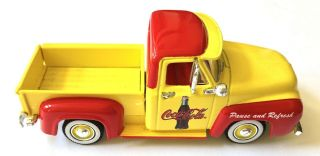 Vtg Matchbox 1999 Coca Cola 1955 Ford F 100 Yellow Pick Up