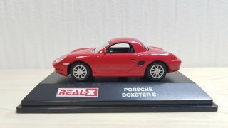 1/72 Real - X Porsche Boxster S Red Diecast Car Model