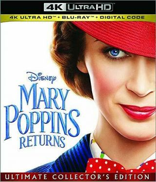 Mary Poppins Returns (dvd,  4k Ultra Hd Blu - Ray/blu - Ray) With Slipcover