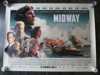 Midway Uk Movie Poster Quad Double - Sided 2019 Cinema Poster Rare