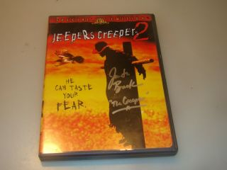 "Jeepers Creepers 2 Dvd,  Special Ed,  Autographed By "" The Creeper "",  Jonathan Breck"