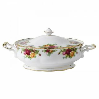 Royal Albert Old Country Roses Covered Vegetable Bowl With Tag Iolcor00406