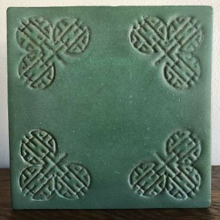 Rare Teco Arts & Crafts Pottery Tile Trivet