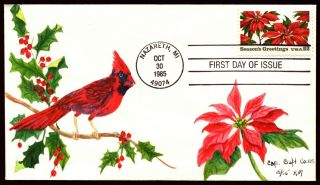 Scott 2166 22 Cents Christmas Issue Capri Craft Hand Painted Fdc 15 Of 55