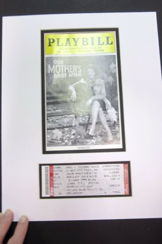 Picture Framing Mat Custom Order Playbill Mat With 2 Tickets 12x16 Sismilin