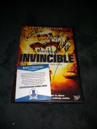 Vince Papale Autographed Dvd Invincible Beckett Certified
