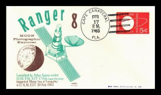 Dr Jim Stamps Us Ranger 8 Moon Explorer Space Craft Event Cover 1965