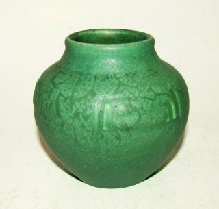 "Rookwood Pottery 4 "" Vase Lorinda Epply 919 Mat Green Mission Arts And Crafts"