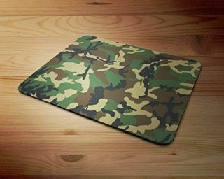 Dpm Green Camouflage Colours & Patterns Army Rubber Mouse Mat Pc Mouse Pad