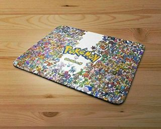 Pokemon Characters Rubber Mouse Mat Pc Mouse Pad
