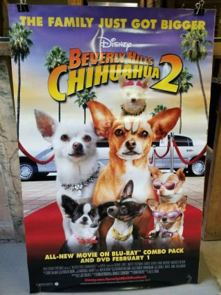 Beverly Hills Chihuahua 2 2011 27x40 Rolled Dvd Promotion Poster