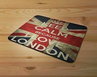 Keep Calm Because I Love London Rubber Mouse Mat Pc Mouse Pad