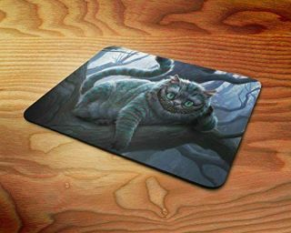 3d Effect Alice In Wonderland Cheshire Cat Smile Rubber Mouse Mat Pc Mouse Pad