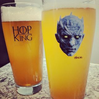 The Hop King - 16 Oz Willi Glass - Night King - Game Of Thrones Got - Craft Beer