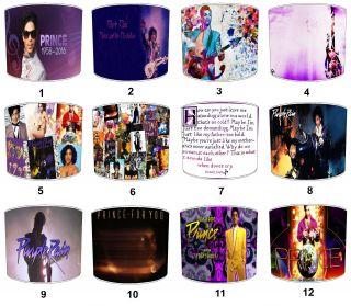 Prince Lampshades Ideal To Match Prince Purple Rain Albums & Prince Memorabilia