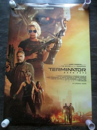 Terminator Dark Fate Uk Movie Poster Double - Sided Uk One Sheet