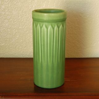 "Magnificent Antique Rookwood Arts Crafts Cylindrical Vase "" Vi "" 1906 1124e Green"